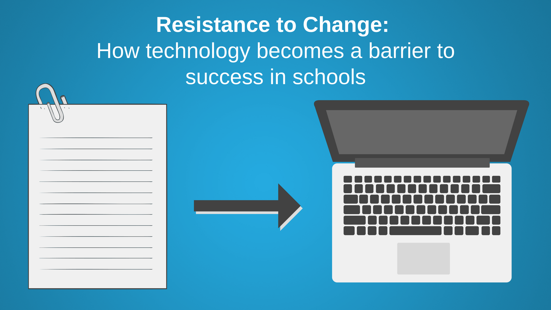 Resistance to Change: How technology becomes a barrier to success in schools