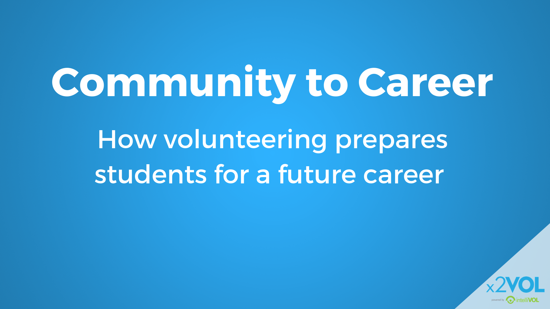 Community to Career