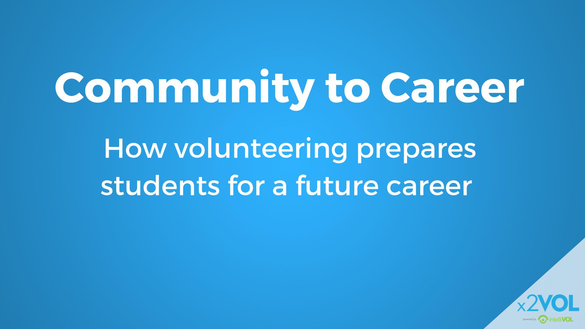 Community to Career